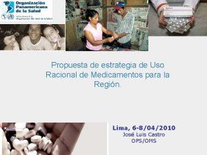 Propuesta de estrategia de Uso Racional de Medicamentos