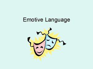 Emotive Language Emotive language cramped in cages deprived