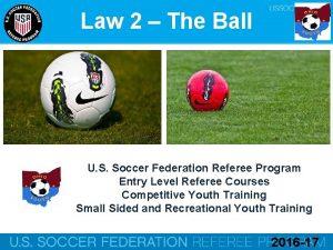 Law 2 The Ball U S Soccer Federation