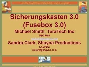 Fusebox Development Methodology www fusebox org Sicherungskasten 3