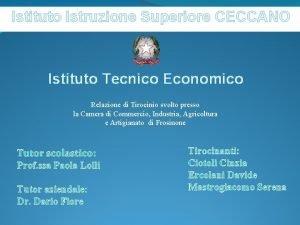 Istituto Istruzione Superiore CECCANO Istituto Tecnico Economico Relazione