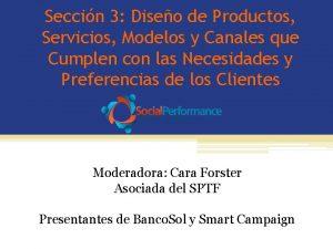 Seccin 3 Diseo de Productos Servicios Modelos y