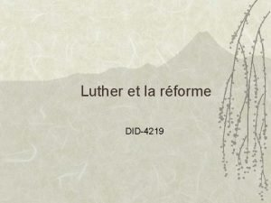 Luther et la rforme DID4219 Martin Luther 1483