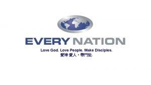 Love God Love People Make Disciples YYYY 5