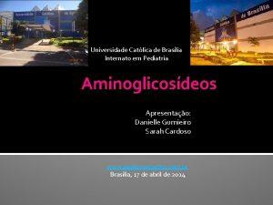 Universidade Catlica de Braslia Internato em Pediatria Aminoglicosdeos