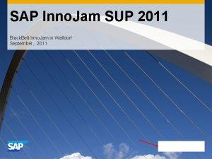 SAP Inno Jam SUP 2011 Black Belt Inno