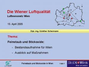 Die Wiener Luftqualitt Luftmessnetz Wien 15 April 2005