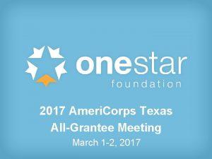 2017 Ameri Corps Texas 2016 Ameri Corps Texas