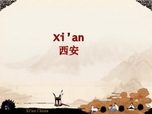 Xian Xian China History Today Xian China Xian