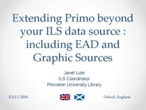 Extending Primo beyond your ILS data source including
