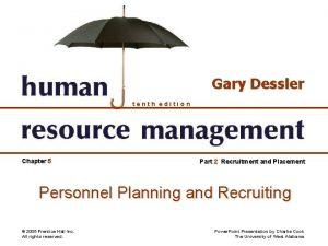Gary Dessler tenth edition Chapter 5 Part 2