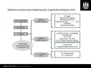 Kbenhavns Kommunes Ungdomsskole organisationsdiagram 2015 BUF UNGDOM Almen