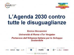 LAgenda 2030 contro tutte le disuguaglianze Enrico Giovannini