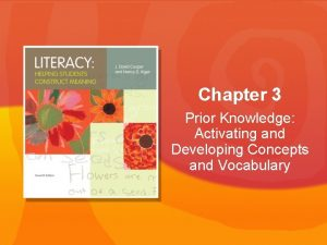 Chapter 3 Prior Knowledge Activating and Developing Concepts