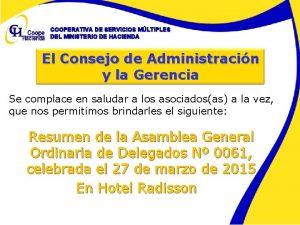 COOPERATIVA DE SERVICIOS MLTIPLES DEL MINISTERIO DE HACIENDA