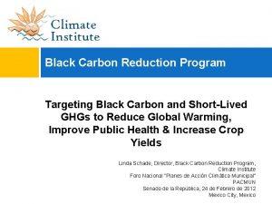 Black Carbon Reduction Program Targeting Black Carbon and