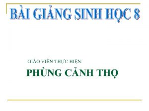 GIO VIN THC HIN PHNG CNH TH Kim