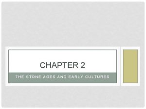 CHAPTER 2 THE STONE AGES AND EARLY CULTURES