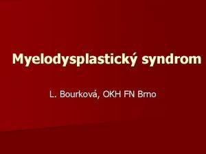 Myelodysplastick syndrom L Bourkov OKH FN Brno Laboratorn