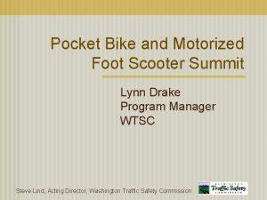 Pocket Bike and Motorized Foot Scooter Summit Lynn