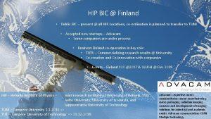 HIP BIC Finland Public BIC present all HIP