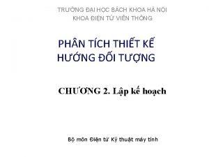 TRNG I HC BCH KHOA H NI KHOA
