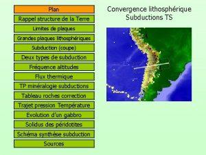 Plan Rappel structure de la Terre Limites de