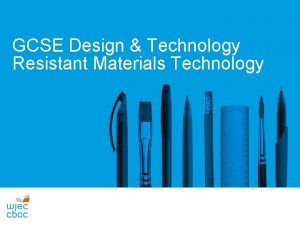 WJEC DESIGN AND TECHNOLOGY Resistant Materials Technology DYLUNIO