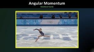 Angular Momentum Rotational Inertia Rotating objects have a