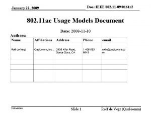 Doc IEEE 802 11 090161 r 2 doc