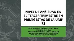 NIVEL DE ANSIEDAD EN EL TERCER TRIMESTRE EN