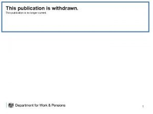 This publication is withdrawn This publication is no