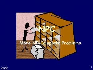 NPC More NPComplete Problems Complexity D Moshk 1