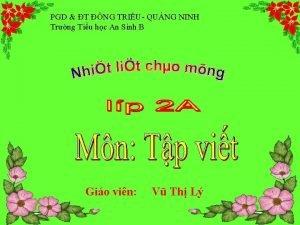 PGD T NG TRIU QUNG NINH Trng Tiu