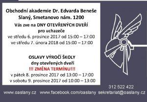 Obchodn akademie Dr Edvarda Benee Slan Smetanovo nm