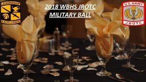 2018 WBHS JROTC MILITARY BALL AGENDA 1 5
