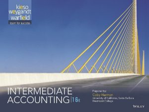 18 1 PREVIEW OF CHAPTER 18 Intermediate Accounting