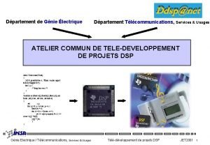 Dpartement de Gnie lectrique Dpartement Tlcommunications Services Usages