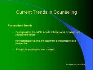 Current Trends in Counseling Postmodern Trends Conceptualizes the