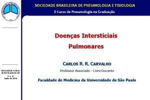 SOCIEDADE BRASILEIRA DE PNEUMOLOGIA E TISIOLOGIA II Curso