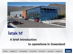 stak hf A brief introduction to operations in