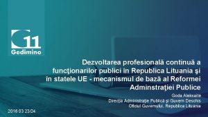 Dezvoltarea profesional continu a funcionarilor publici n Republica