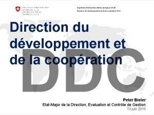 Dpartement fdral des affaires trangres DFAE Direction du