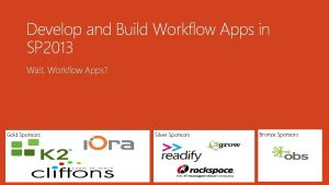 Develop and Build Workflow Apps in SP 2013
