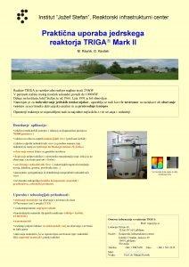 Institut Joef Stefan Reaktorski infrastrukturni center Praktina uporaba