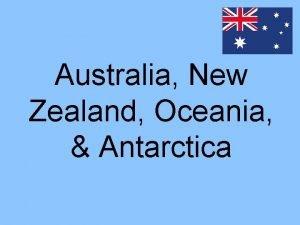 Australia New Zealand Oceania Antarctica Georgia Standards SSWG