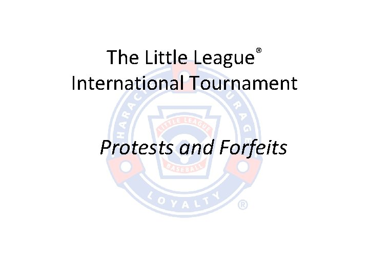 The Little League International Tournament Protests and Forfeits