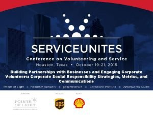 Building Partnerships with Businesses and Engaging Corporate Volunteers