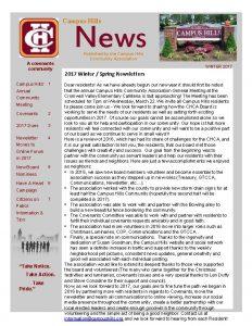 Campus Hills News A covenants community Campus Hills
