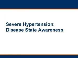 Severe Hypertension Disease State Awareness Hypertensive Crisis JNC7